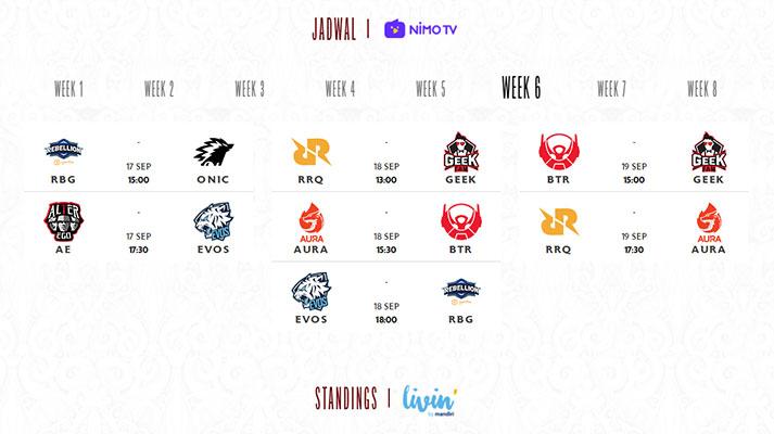 jadwal mpl id season 8 week 6